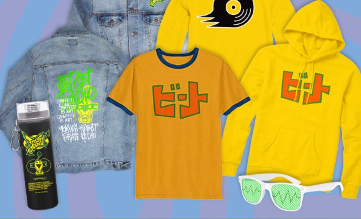 f102b1ffae The company has announced a line of Jet Set Radio goods that you can get in  their shop right now. They re reasonably priced (plus extra for shipping