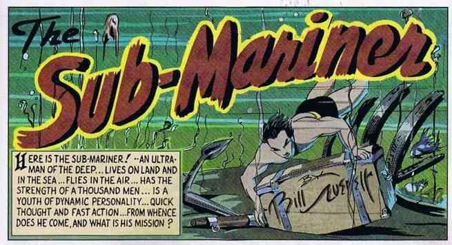 Namor Best Marvel Hero - Bill Everett