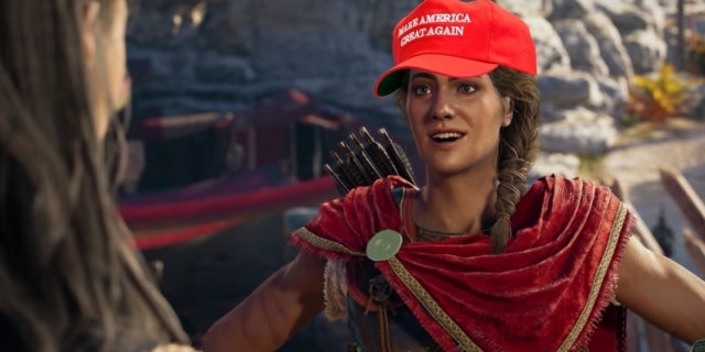 'Assassin's Creed Odyssey' Has a Donald Trump Easter Egg