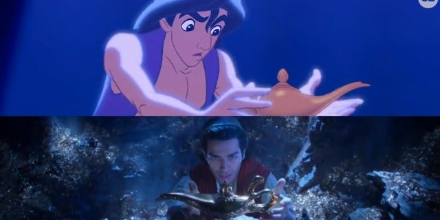 NEW 'Aladdin' Teaser vs. Original screen capture