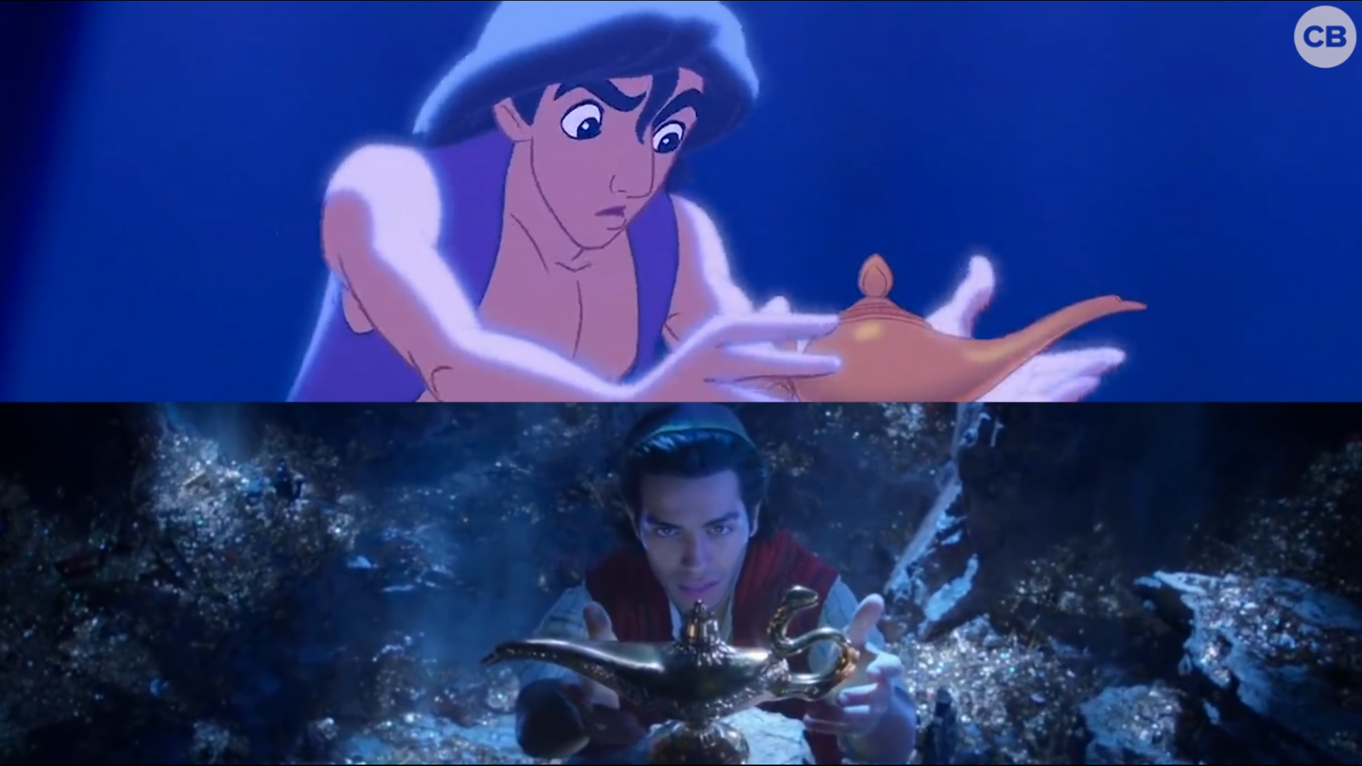 NEW 'Aladdin' Teaser vs. Original screen capture