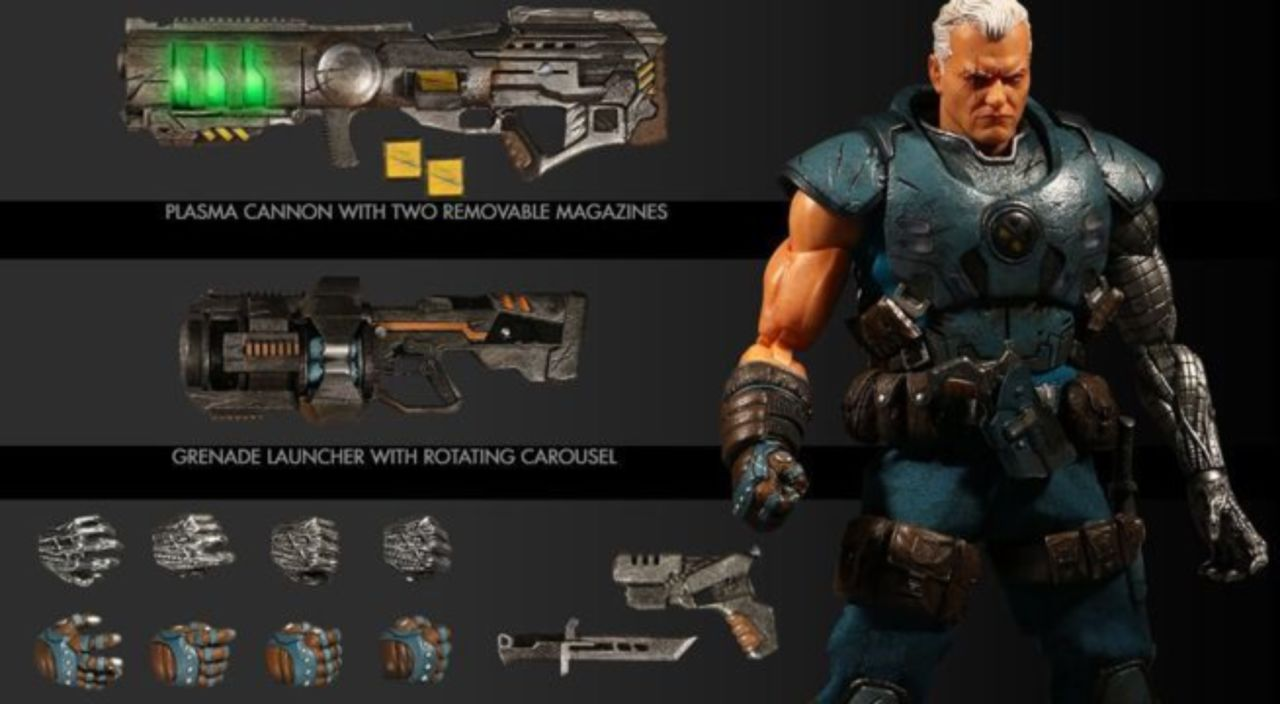 This Marvel Comics Cable Figure From One:12 is Fully Loaded