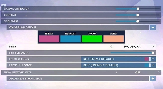 Overwatch Colorblind Settings