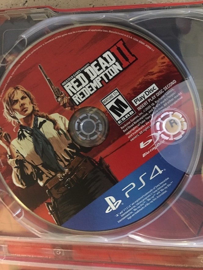 RED DEAD REDEMPTION 2 is two-discs...is it the end of ...