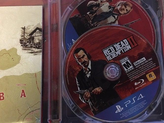 rdr2 download size disc