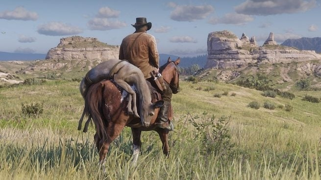 red dead redemption 2 dead animal horse