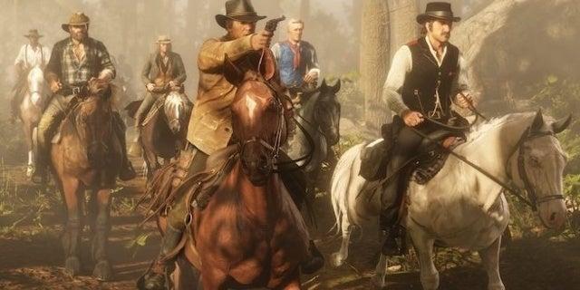 red dead redemption 2 gang horseback