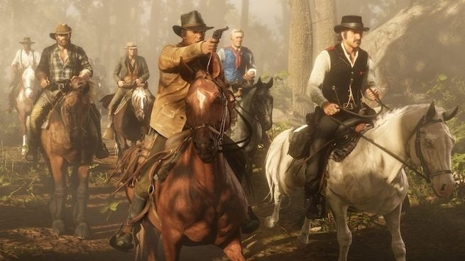 red dead redemption 2 gang horseback