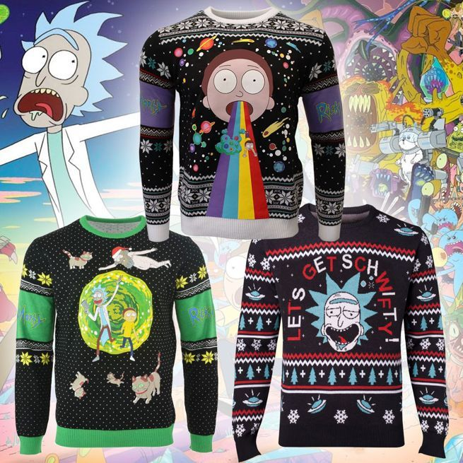 Rick And Morty Christmas.Rick And Morty Ugly Christmas Sweaters Are For Portal Party