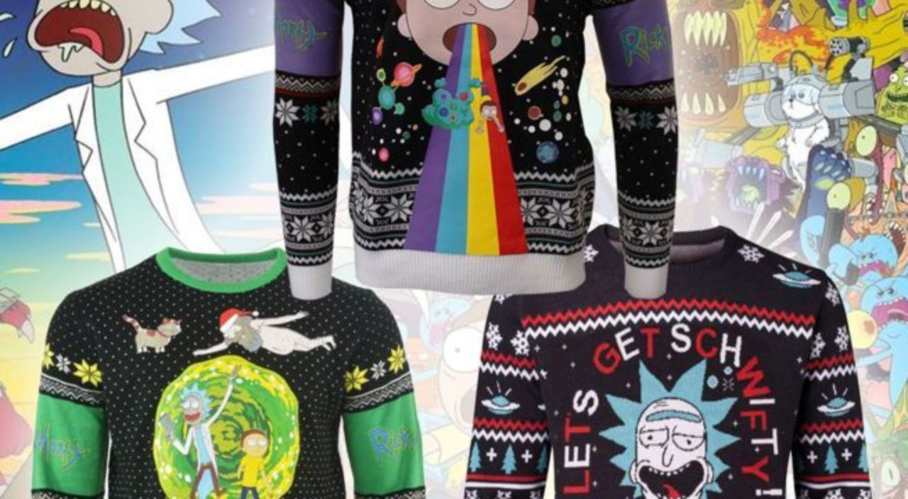 Rick And Morty Ugly Christmas Sweater.Rick And Morty Ugly Christmas Sweaters Are For Portal Party