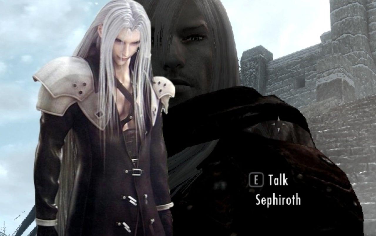 Final Fantasy VII's' Sephiroth and More Invade 'Skyrim' With