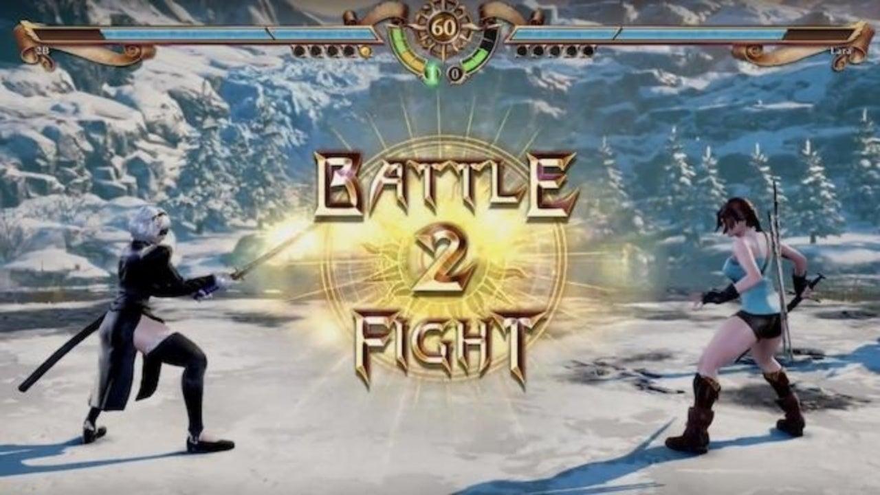 Soulcalibur VI': Watch Lara Croft Take On 'NieR: Automata's 2B