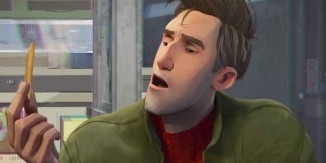 spider man into the spider verse greek food plothole