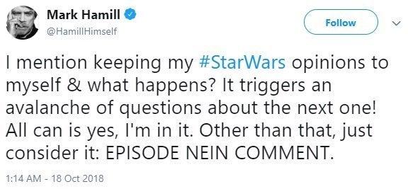 episódio de star wars ix mark dicas de hamill