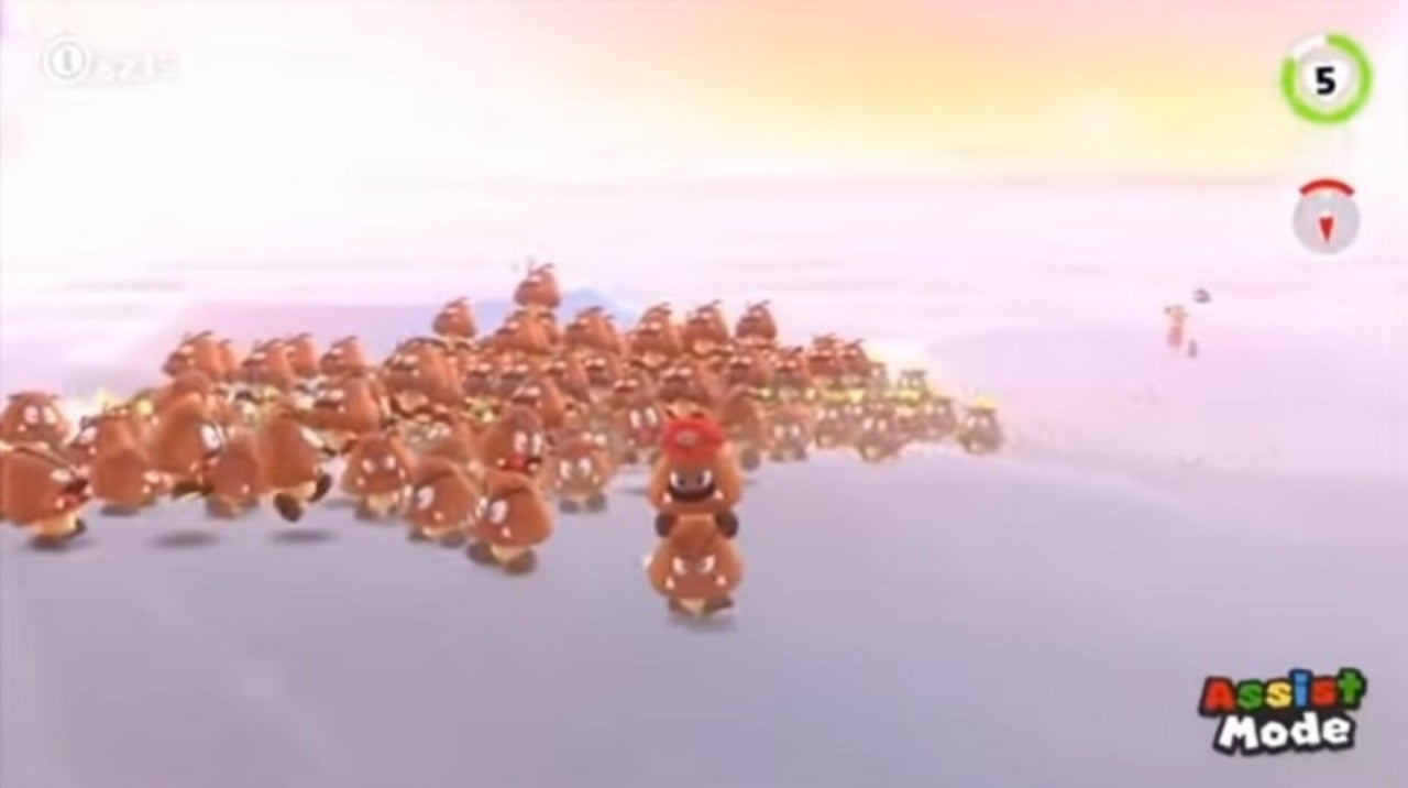 Someone Stacked 200 Goombas in 'Super Mario Odyssey'