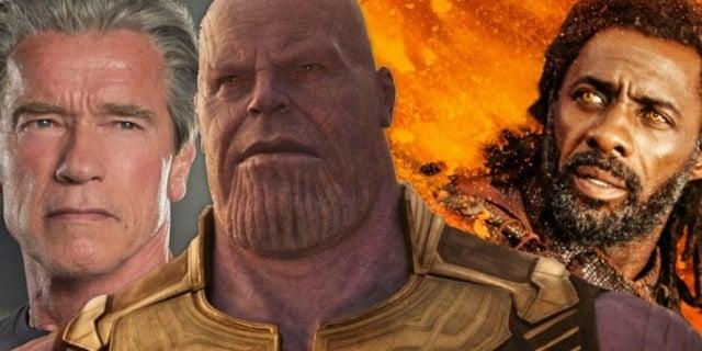 Thanos Schwarzenegger Elba comicbookcom