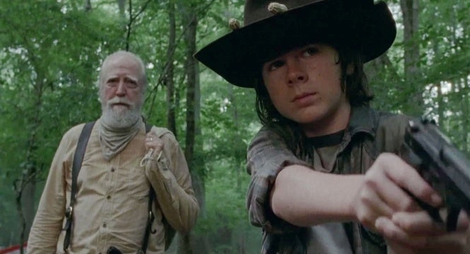 the walking dead carl hershel