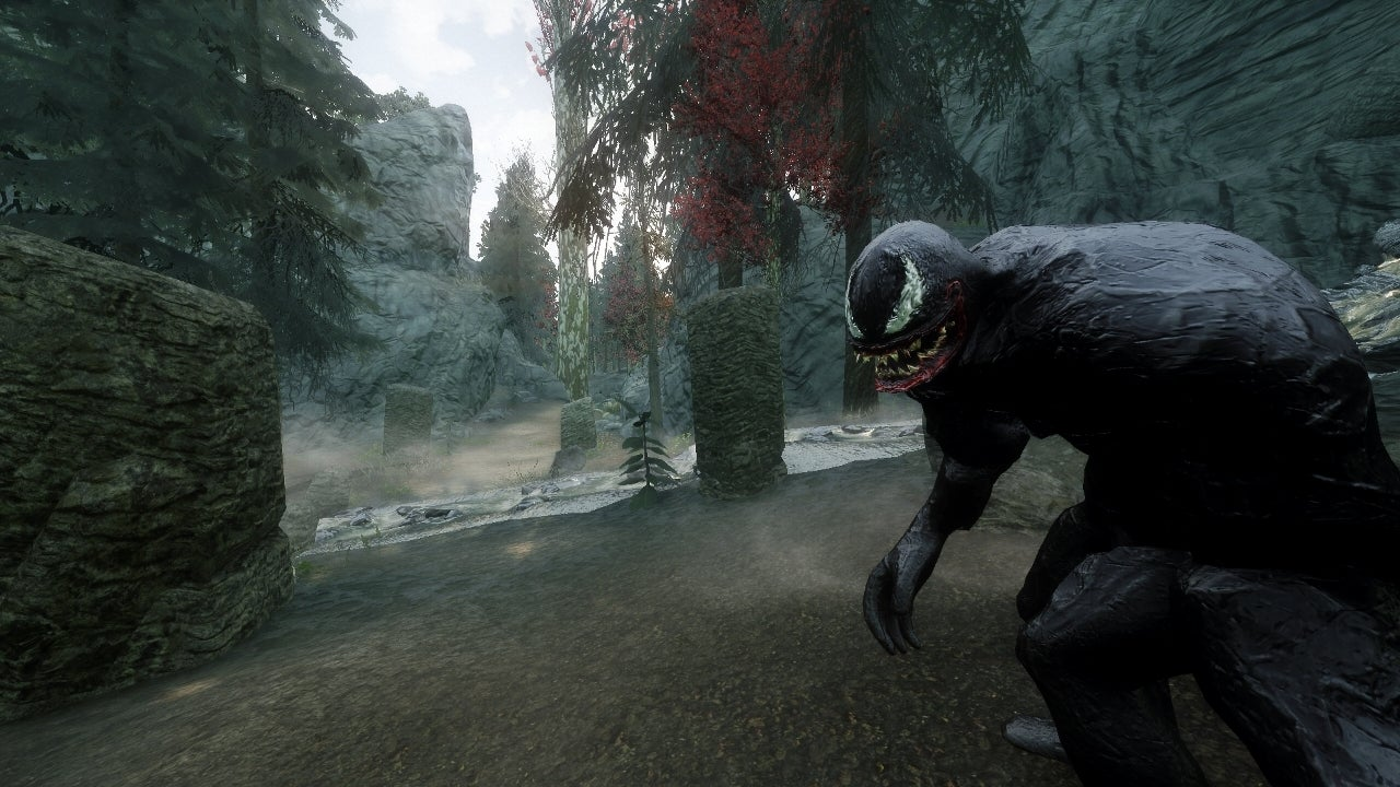 venom will follow you in skyrim with this mod
