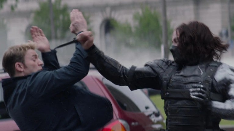 Winter Soldier knife fight