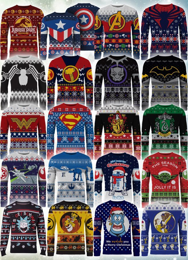 Superhero Ugly Christmas Sweaters.The Best Ugly Nerdy Christmas Sweaters Of 2018