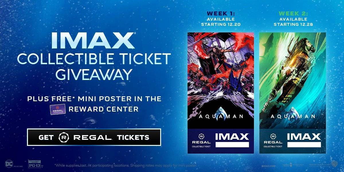 'Aquaman' IMAX Collectible Movie Tickets Revealed