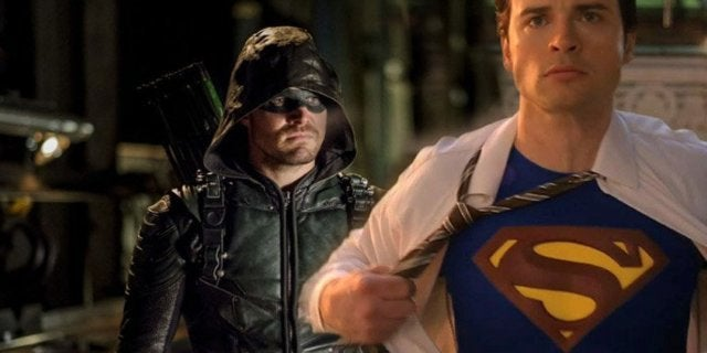 arrow smallville crossover stephen amell