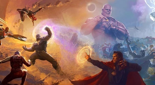 avengers infinity war art book cover