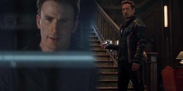 Avengers Infinity War Deleted Scene Tony Stark Flip Phone Captain America