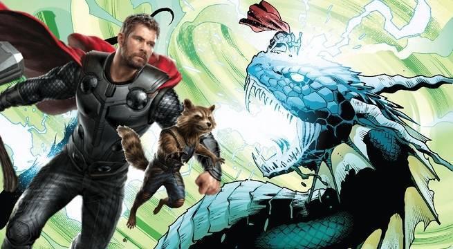 avengers-infinity-war-thor-rocket-raccoon-fight-giant-serpents