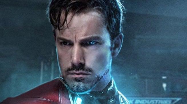 Ben Aflleck as Iron Man Fan Art