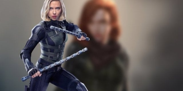 Black Widow Avengers Infinity War Alternate Costume Concept Art