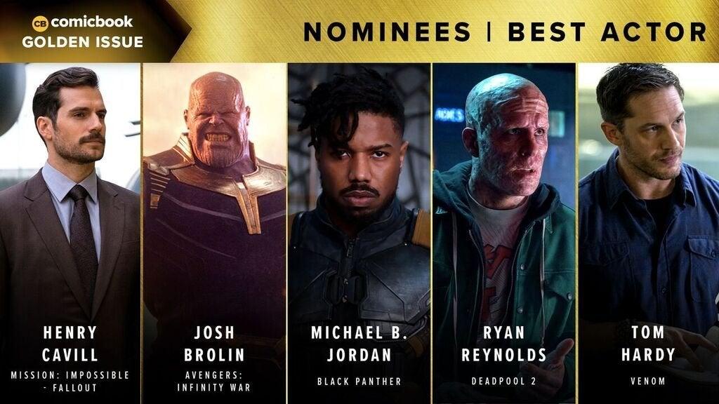 Comicbook Golden Issue Awards 2018 - Best Actor