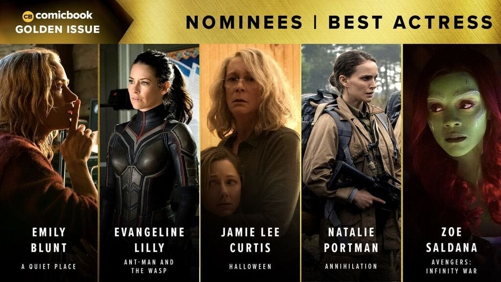 Comicbook Golden Issue Awards 2018 - Best Actress