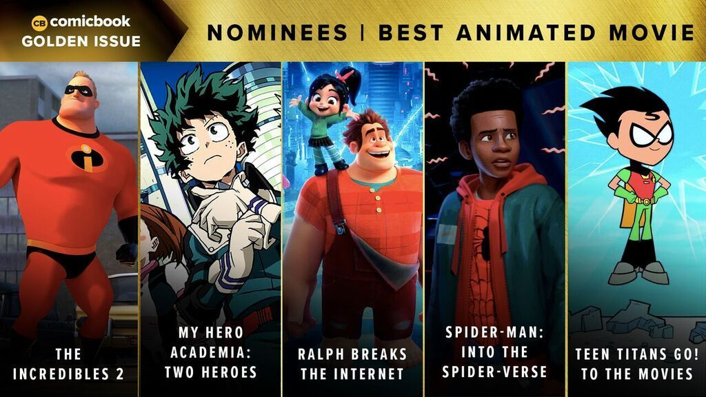 Comicbook Golden Issue Awards 2018 - Best Animated Movie