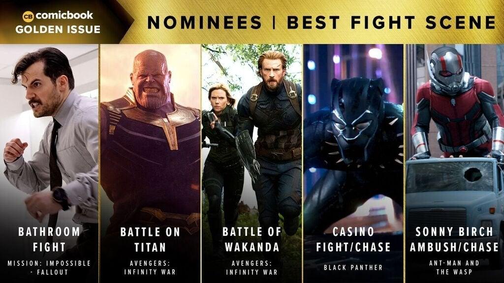 Comicbook Golden Issue Awards 2018 - Best Fight Scene