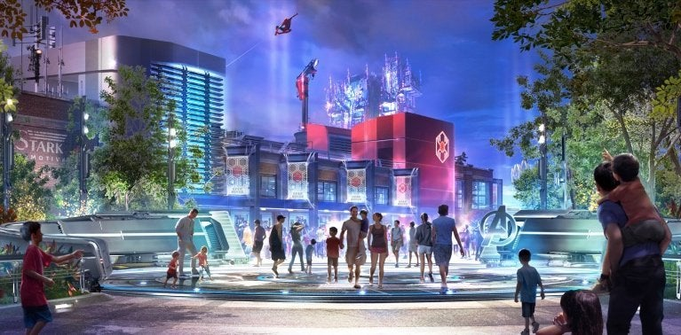 Concept Art for Disney California Adventure Park's Spider-Man Attraction Surfaces