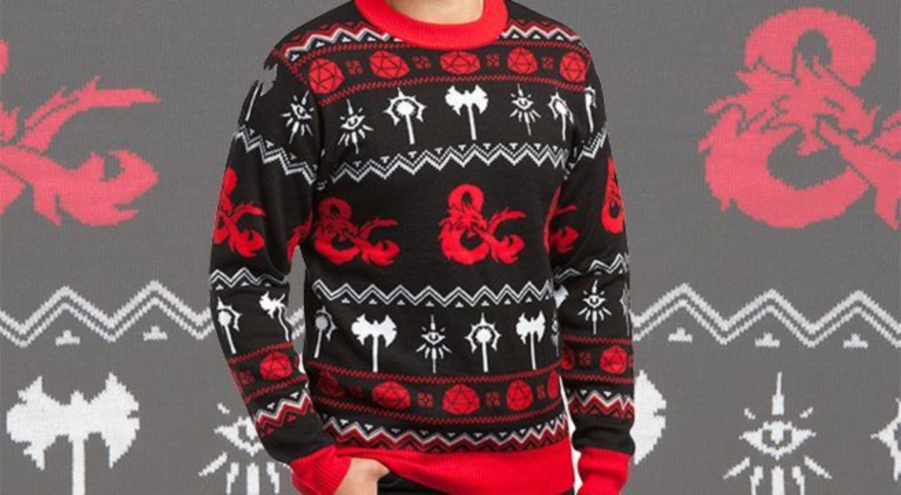The Official Dungeons Dragons Ugly Christmas Sweater Is Here