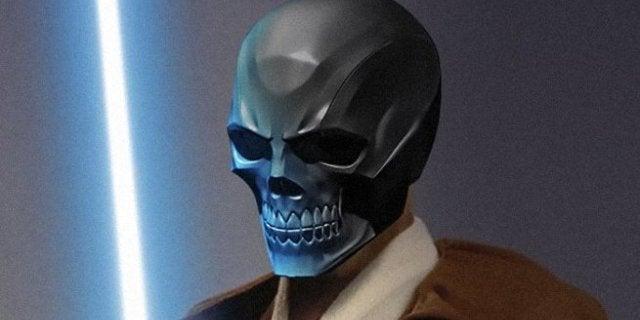 Ewan McGregor Obi-Wan Kenobi Black Mask Mashup Art