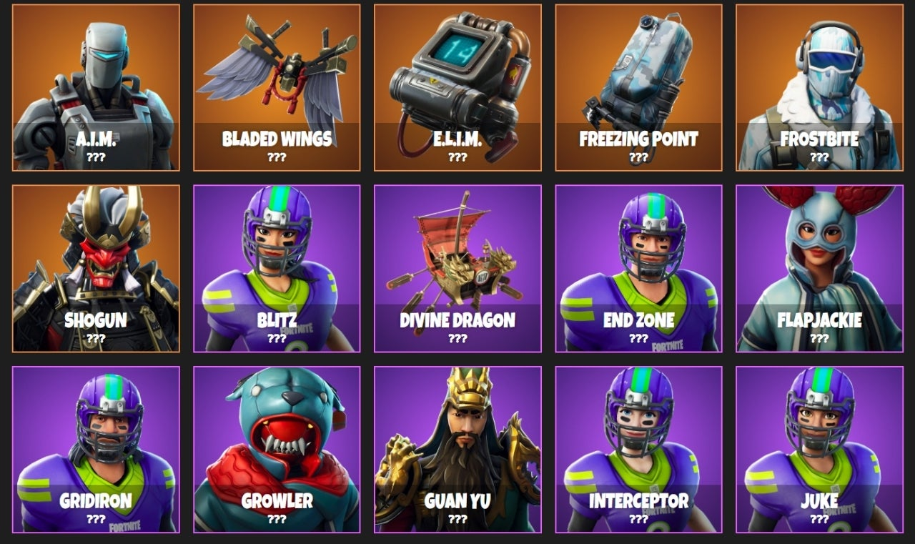Huge 'Fortnite' Cosmetic Items Leak Shows Sports, Spooks