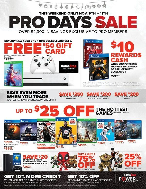 GameStop's Huge Pro Days Sale Returns this Weekend