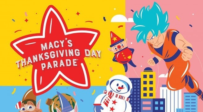 goku thanksgiving day parade poster header
