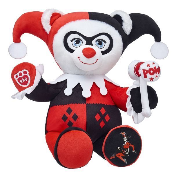 the harley quinn bear is back at build a bear workshop. Black Bedroom Furniture Sets. Home Design Ideas