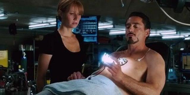 iron man tony stark heart scene