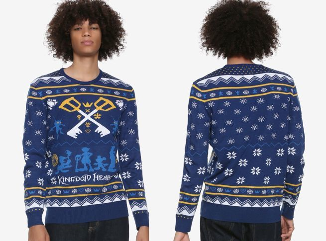 Kingdom Hearts Christmas.The Official Kingdom Hearts Ugly Christmas Sweater Is Here
