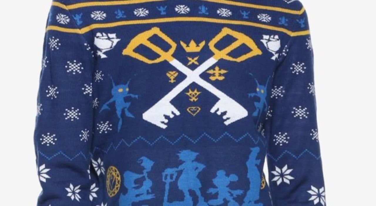 Anime Christmas Sweater.The Official Kingdom Hearts Ugly Christmas Sweater Is Here