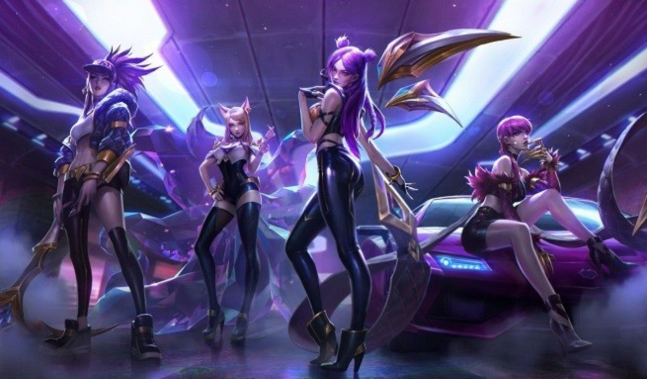 lux and syndra kda skin fan art league 2019 t. Black Bedroom Furniture Sets. Home Design Ideas