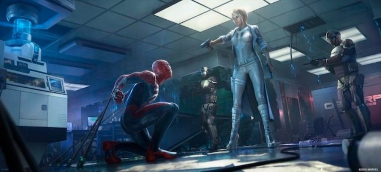 Marvel Spiderman game art