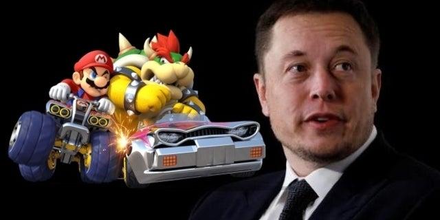 Elon Musk Says Nintendo Won't License 'Mario Kart' for Tesla
