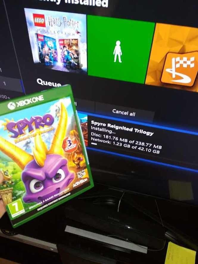 Report: 'Spyro Reignited Trilogy' Physical Disc Still