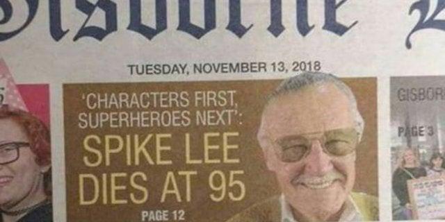 Stan Lee Spike Lee Obituary Mix Up